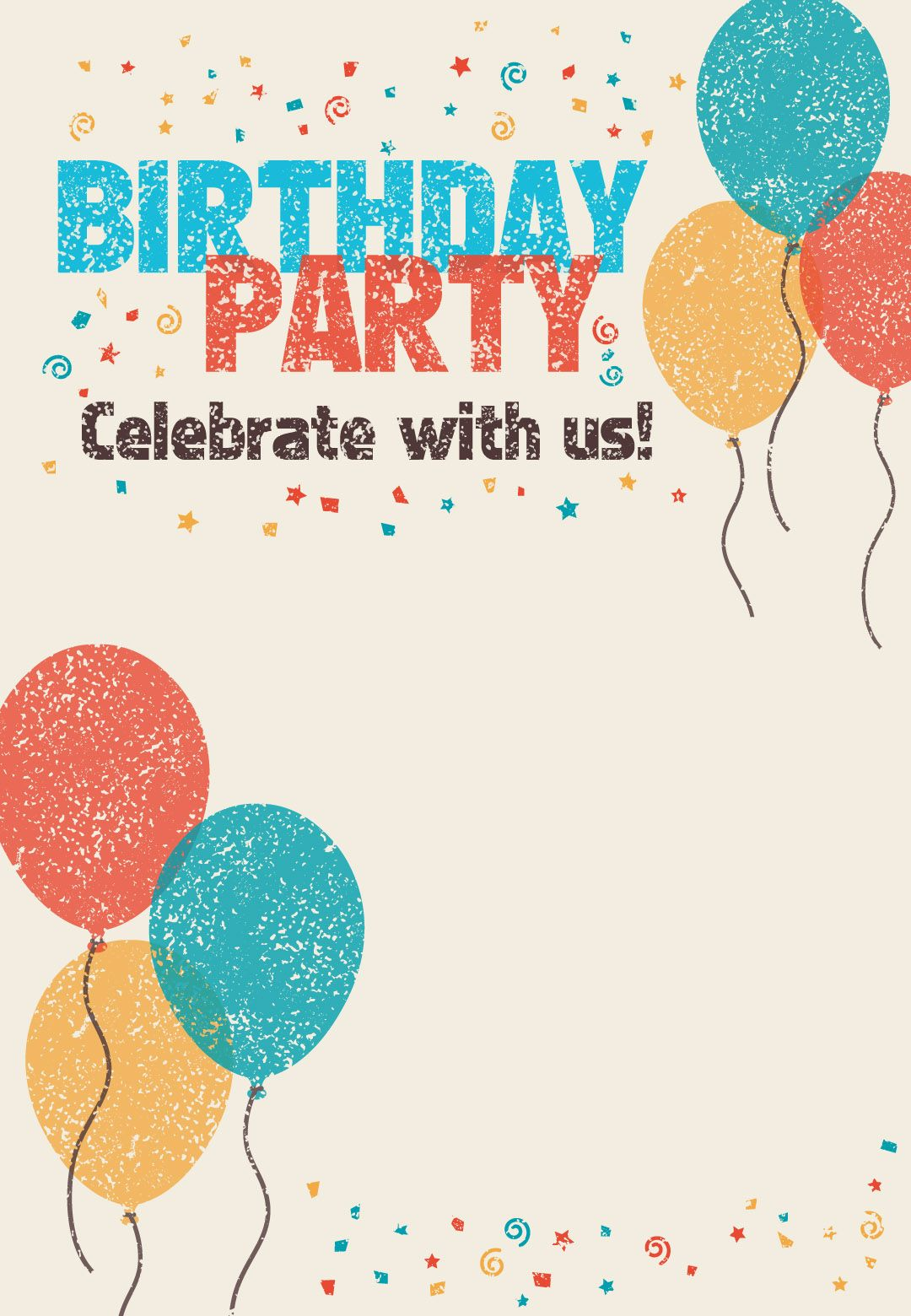 Free Printable Celebrate With Us Invitation Great site for – Free Printable Party Invitations for Kids Birthday Parties