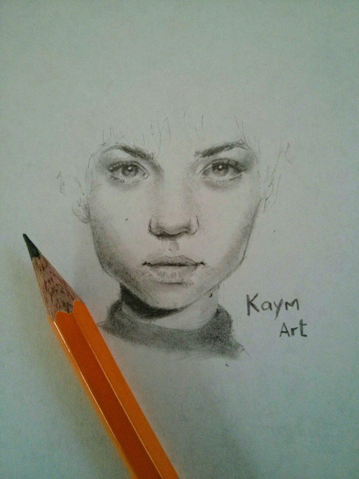 A quick sketch of a face beautiful portrait sketch female pencil drawing kaym art