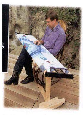 Flynn Quilt Frame Company: Oak Frame Stand | technika! | Pinterest ... : ulmer quilt frame - Adamdwight.com