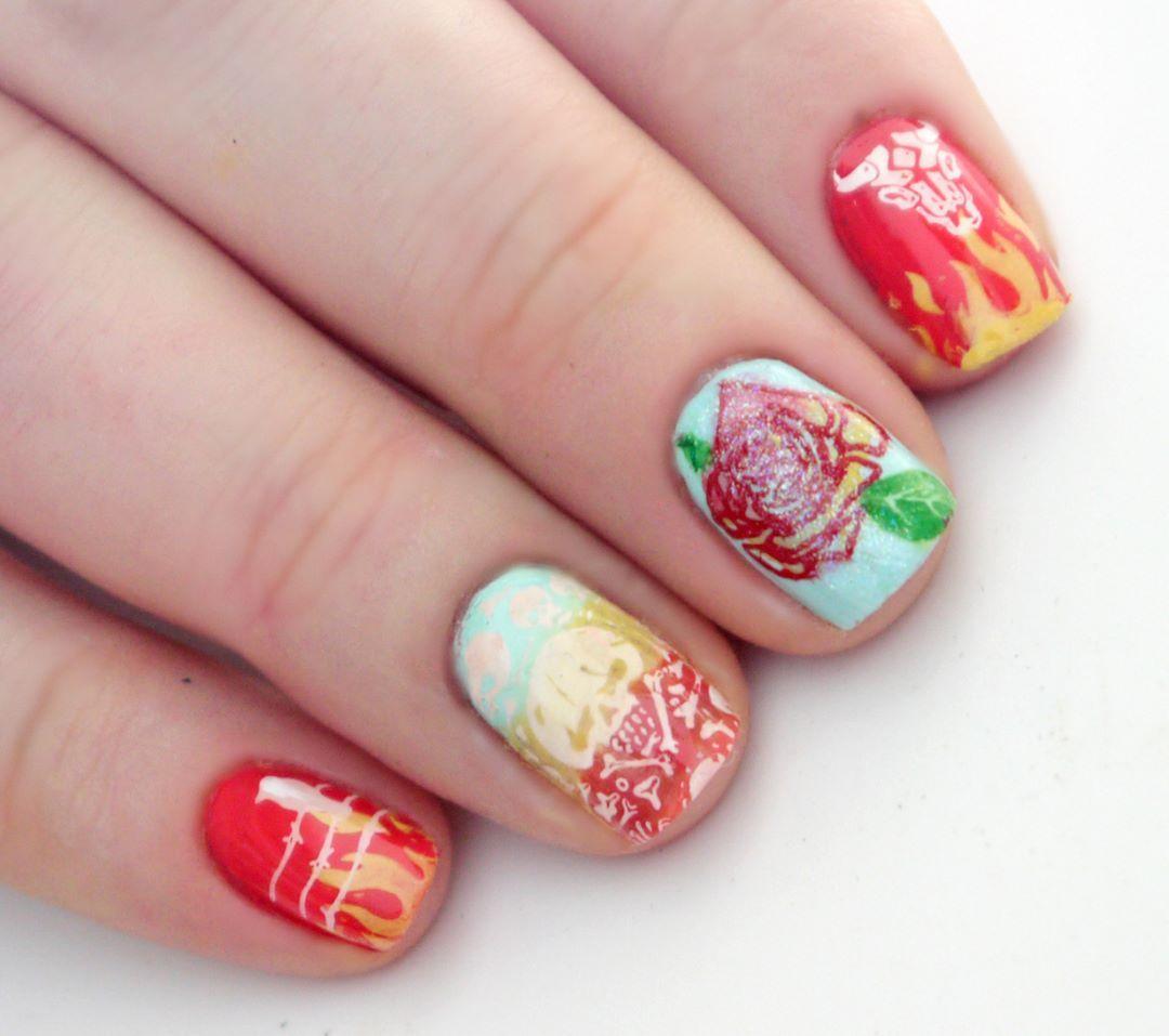 Fairy Nail Art: Kitsch Nail Art By Fairy Nail Story:-)