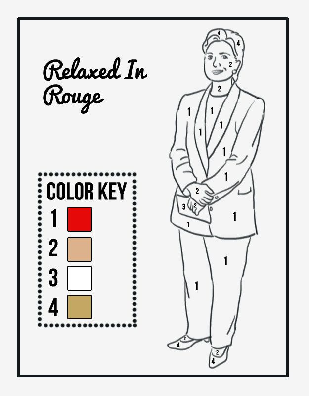 9 hillary clinton color by numbers pantsuits things that are