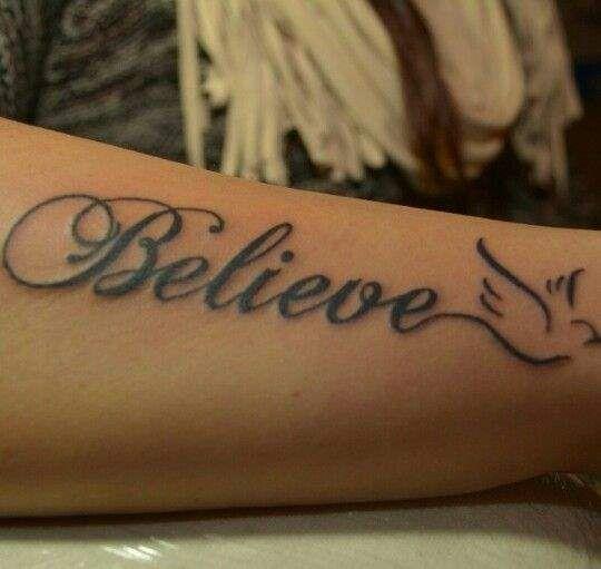 Believe Tattoo On Finger