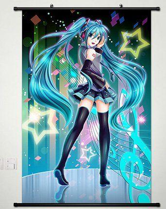 Vocaloid Hatsune Miku Anime HD Print Wall Poster Scroll Home Decor Cosplay