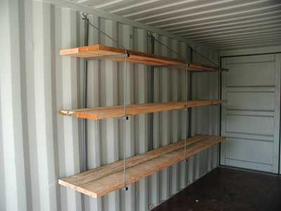 Storage Cargo Shipping Container Shelves and Brackets Container