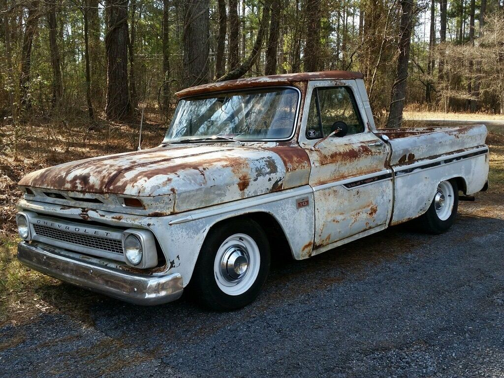 1966 chevrolet c10 shop truck rat rod killer patina short bed big back window