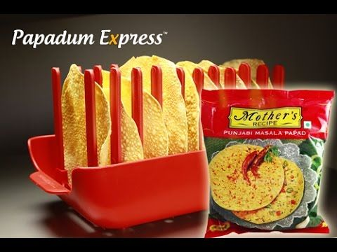 With the Papadum Express®, its simply Stack, Whack and Serve multiple Papadums, quick and easy. No wasting time!   https://www.papadumexpress.com  Here we cook, 10 Papads in 45 seconds!  Papadums used: Mother's Punjabi Masala Papad. A spicy & tasty Papadum recipe.  As always, they all turn out absolutely crisp and crunchy, without the oily fats.   PROUDLY MADE IN SYDNEY, AUSTRALIA Registered Design®