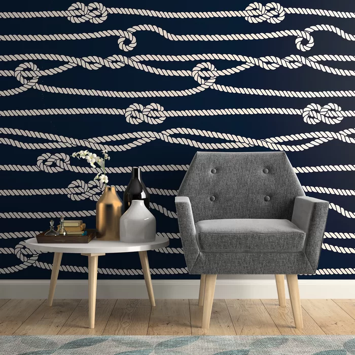 Hatton Line Nautical Removable Peel And Stick Wallpaper Panel In 2021 Wallpaper Panels Removable Wallpaper Peel And Stick Wallpaper