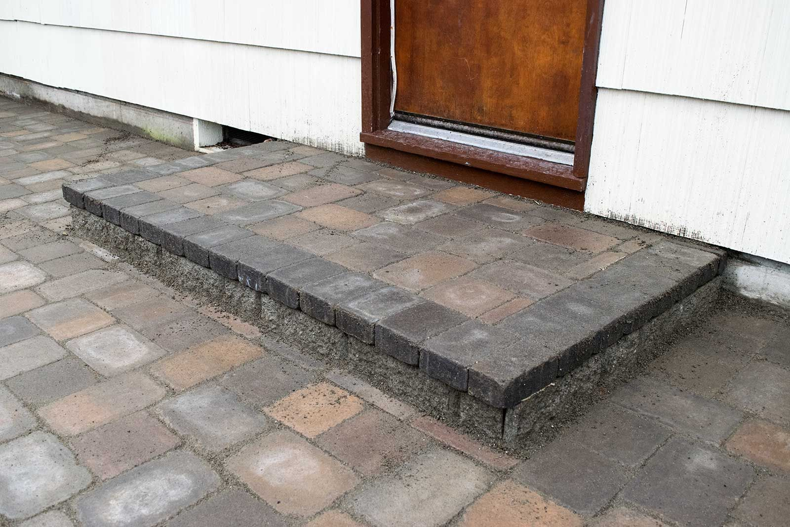 Attractive We Replaced The Concrete Step With Matching Pavers. This Attention To  Detail Is What Brings