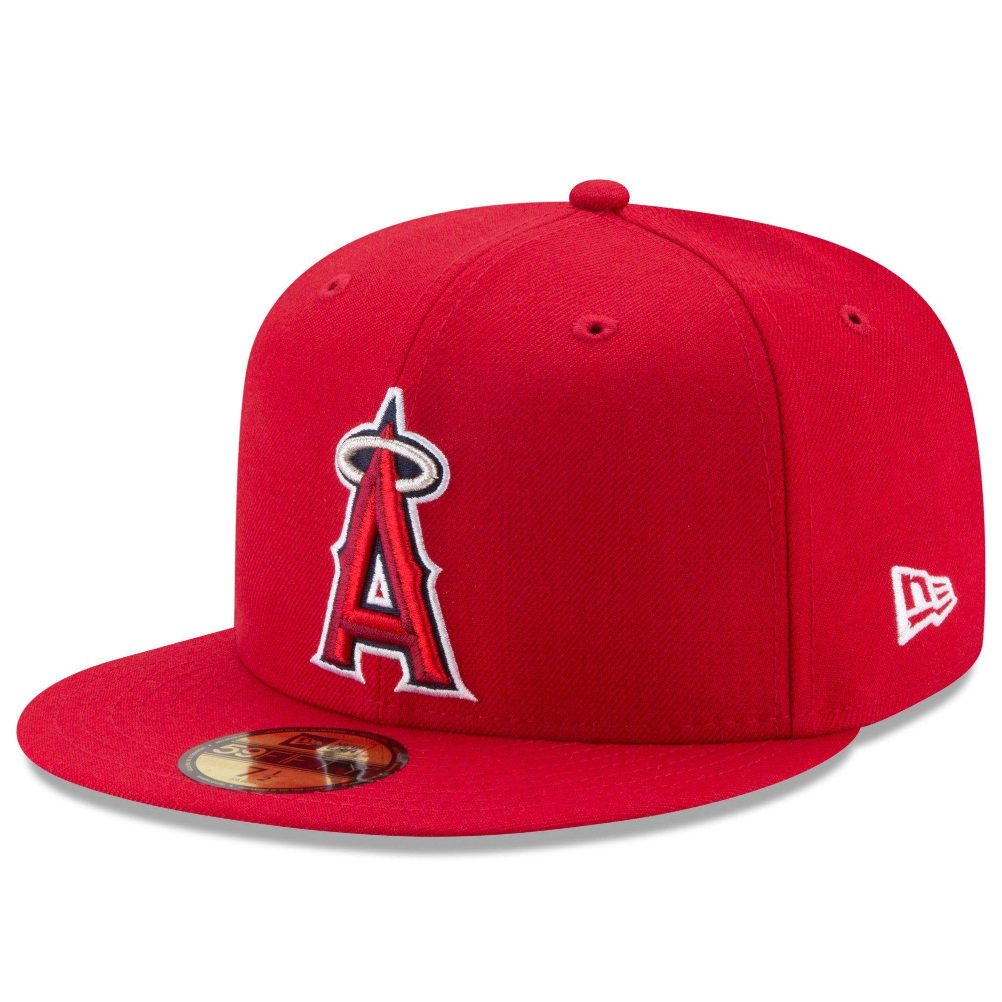 312e1f70368 New Era 59fifty MLB On Field Fitted Hat Cap - Anaheim LA Angels Game ...