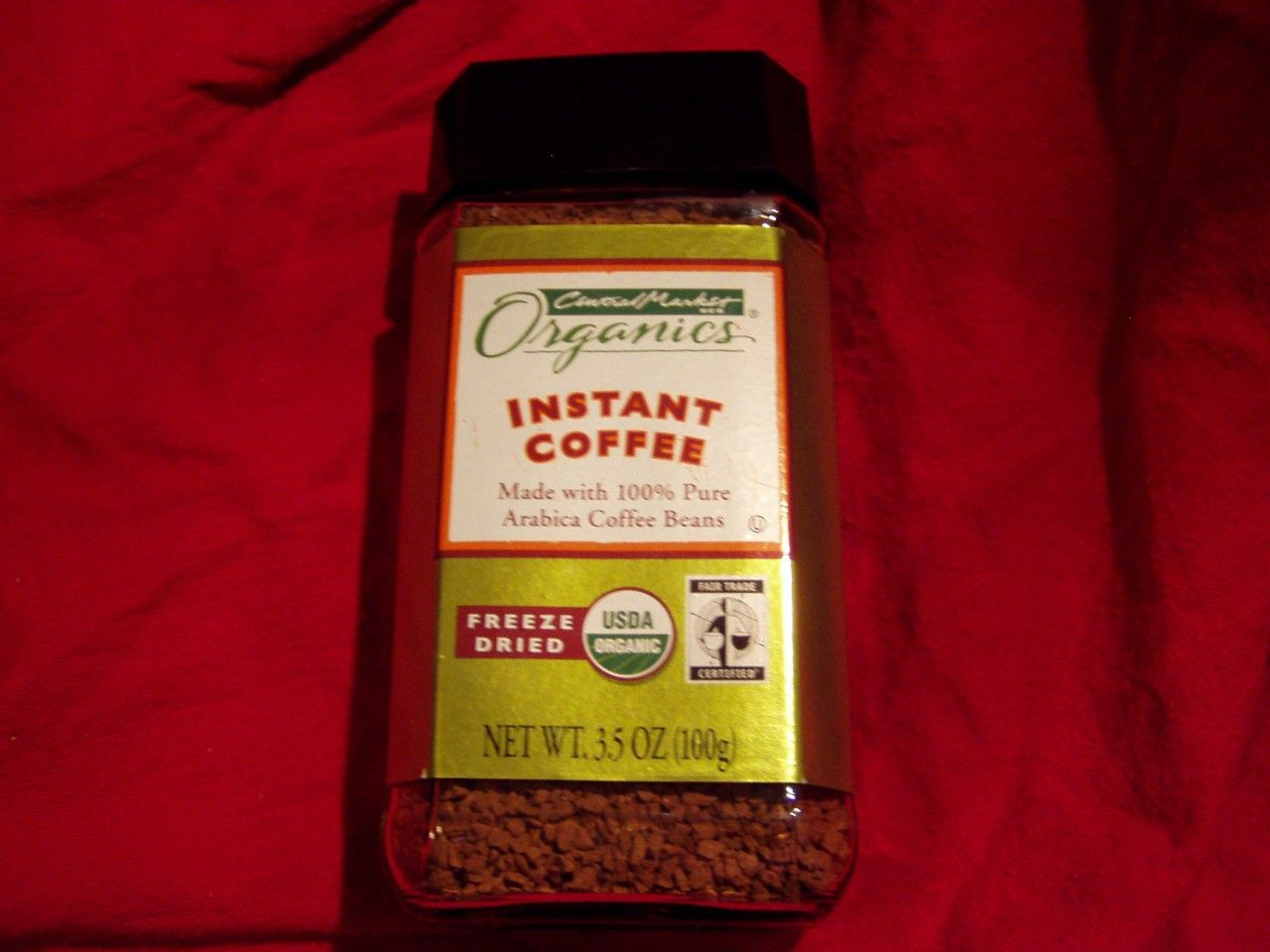 Central market organics instant coffee made from arabica