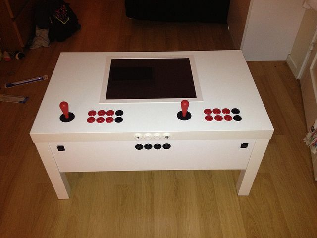 My Build Ikea Arcade Table Arcade Table Retropie Arcade