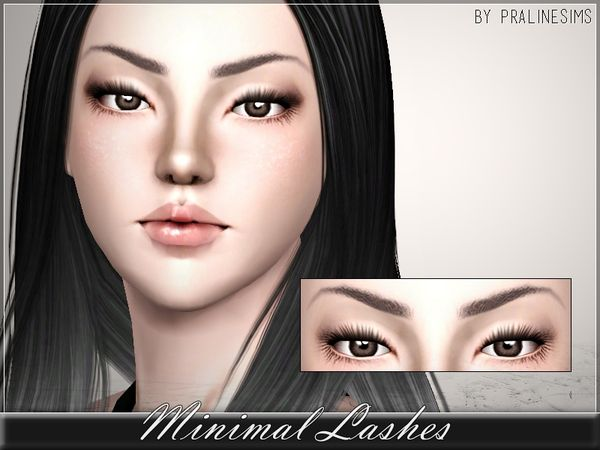Minimal Lashes by Pralinesims - Sims 3 Downloads CC Caboodle
