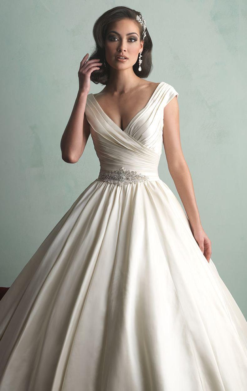 Satin Wedding Gown By Allure Bridals Wedding Wedding