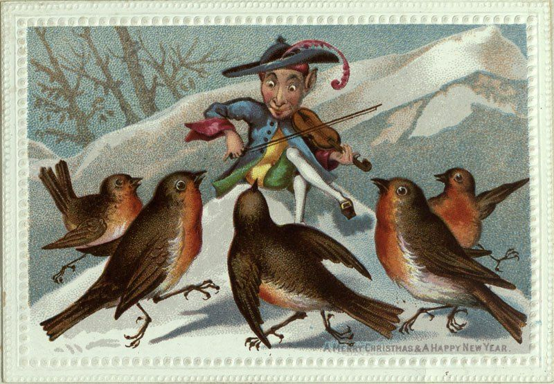 These Victorian-era Christmas cards were dark and funny