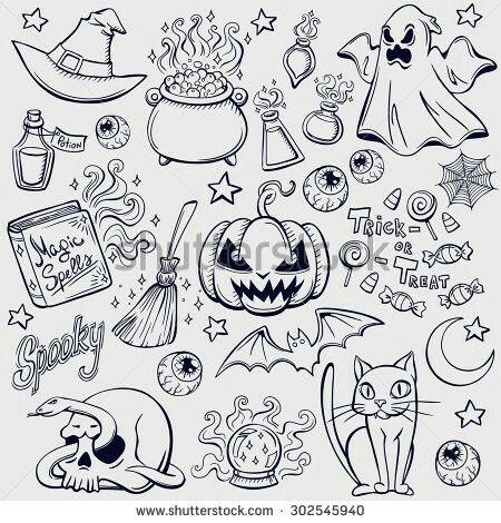 Halloween Doodles With Images Bullet Journal Halloween