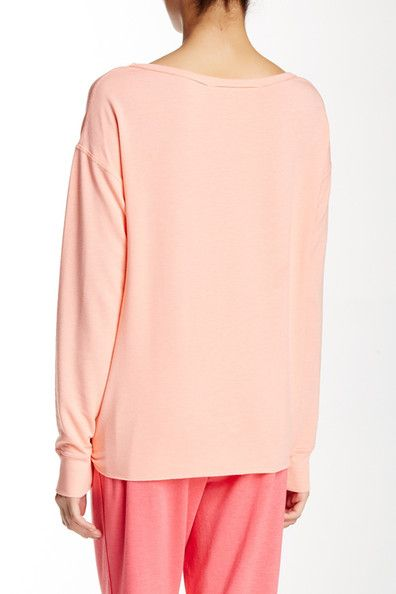 Raw Edge Boatneck Pullover