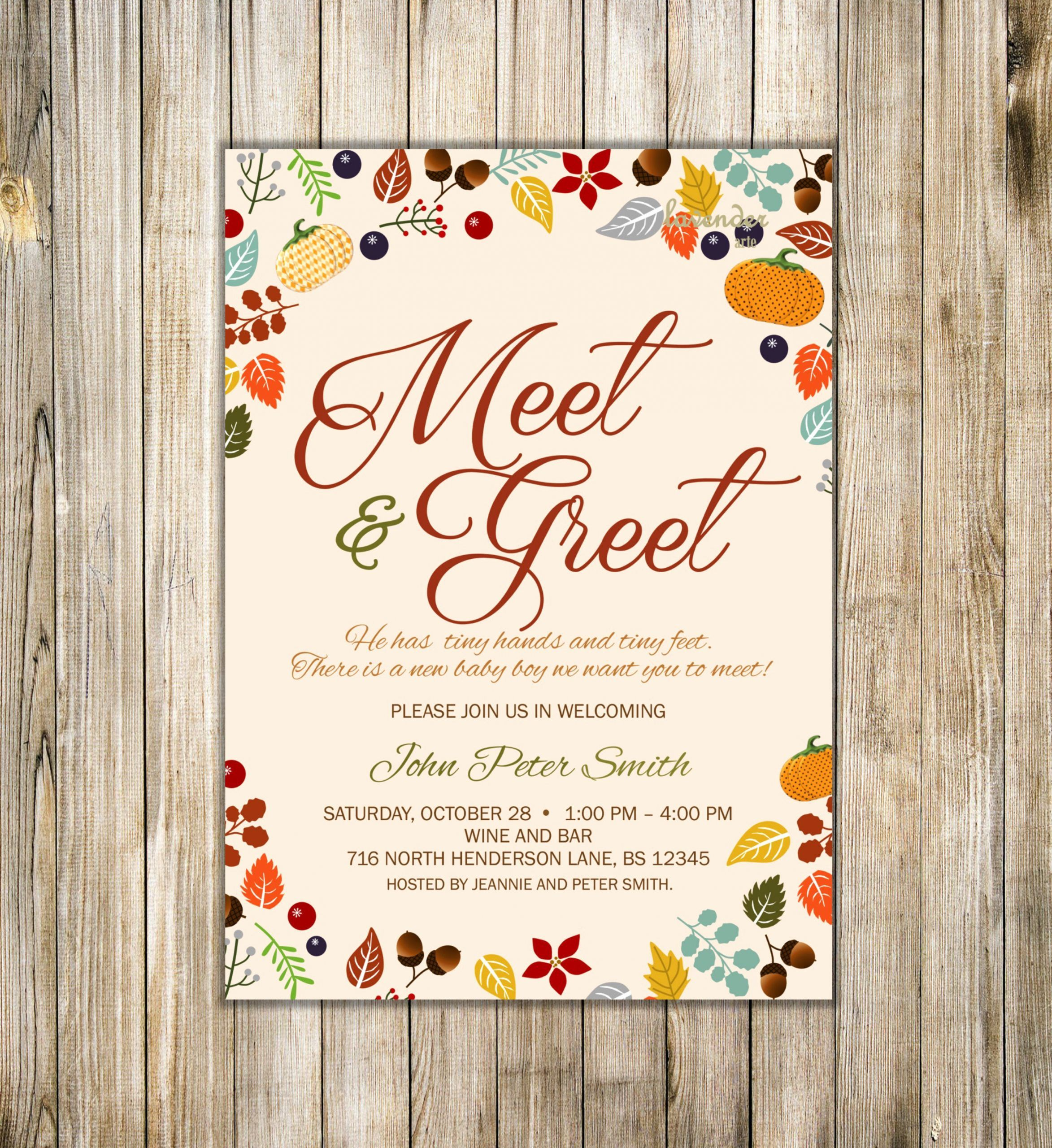 Meet and Greet Invitations Inspirational Fall Meet and ...