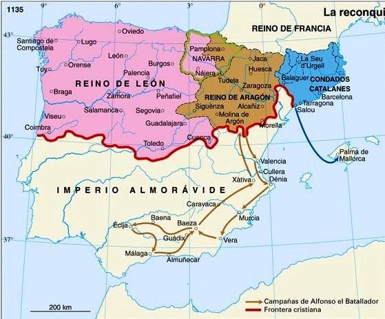 Mapas Imperiales Imperio De Alfonso I De Aragon Y Navarra Jpg 559 464 Mapa De España Historia De España Mapa Historico