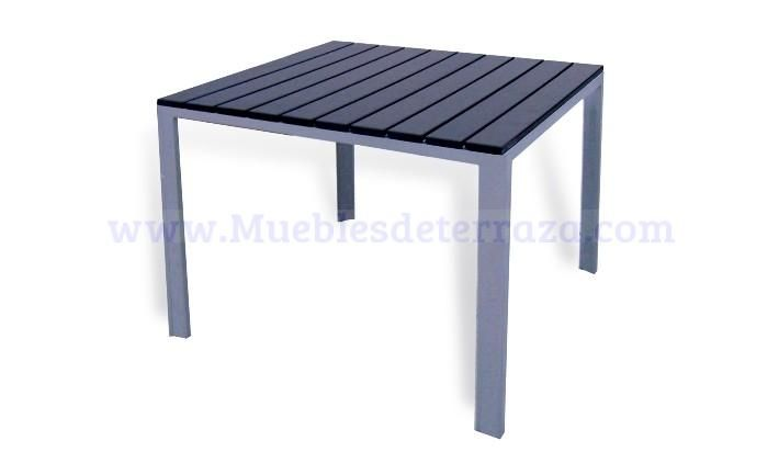 mesa de aluminio exterior mesas de terraza pinterest