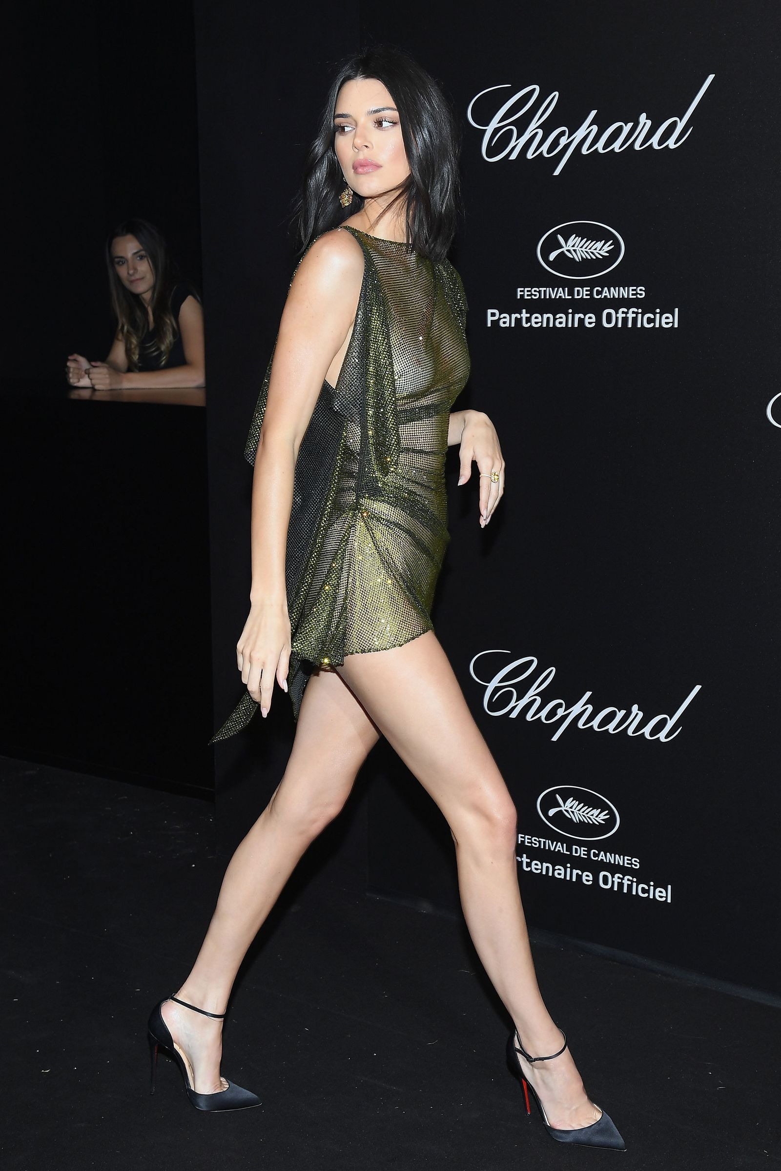 e2139ccddc4 Kendall Jenner wears completely sheer dress on the Cannes red carpet-  HarpersBAZAARUK