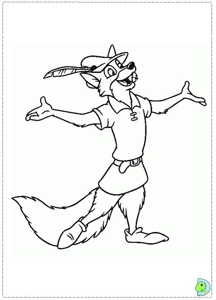 Robin Hood Coloring Page Dinokids Org Horse Coloring Pages Disney Coloring Pages Robin Hood Disney