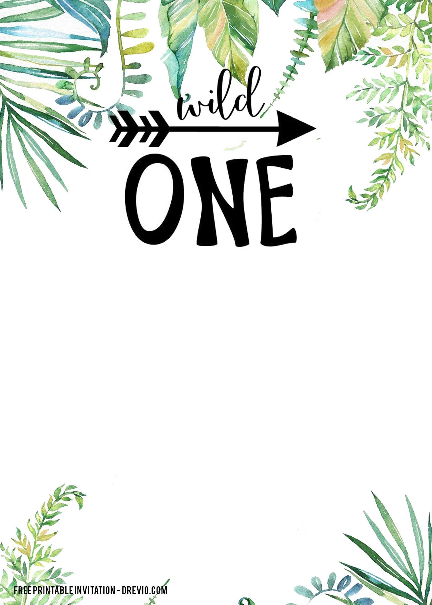 FREE Printable Wild ONE Invitation Templates  FREE Invitation
