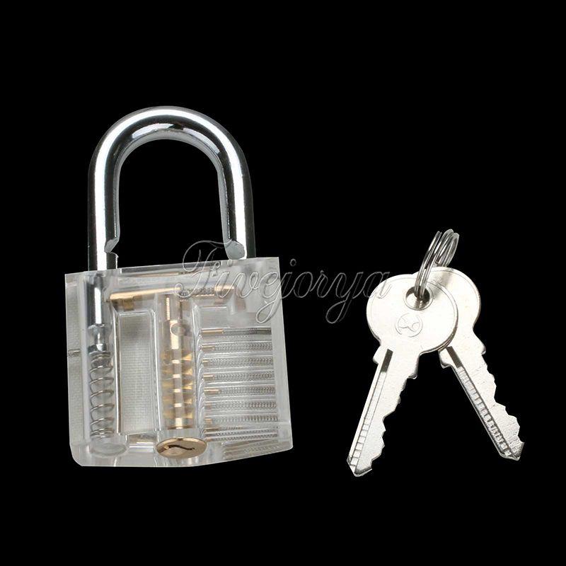 Transparent Padlock Pick Visible Lock Home Security