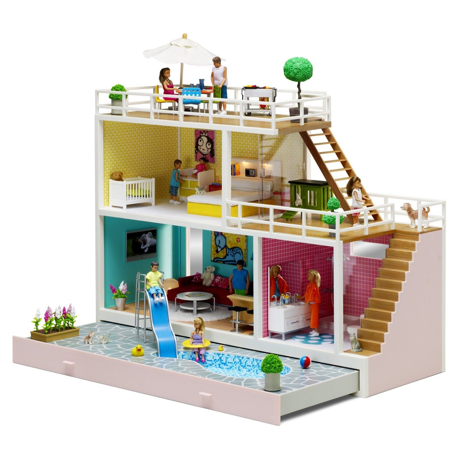 Lundby Doll House Stockholm Doll S House 2013 Including Accessories Lundby Doll House House
