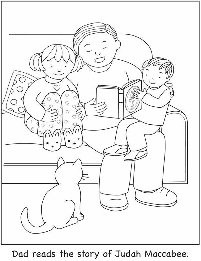 Chanukah Coloring Book Dover Publications | seasonal coloring ...