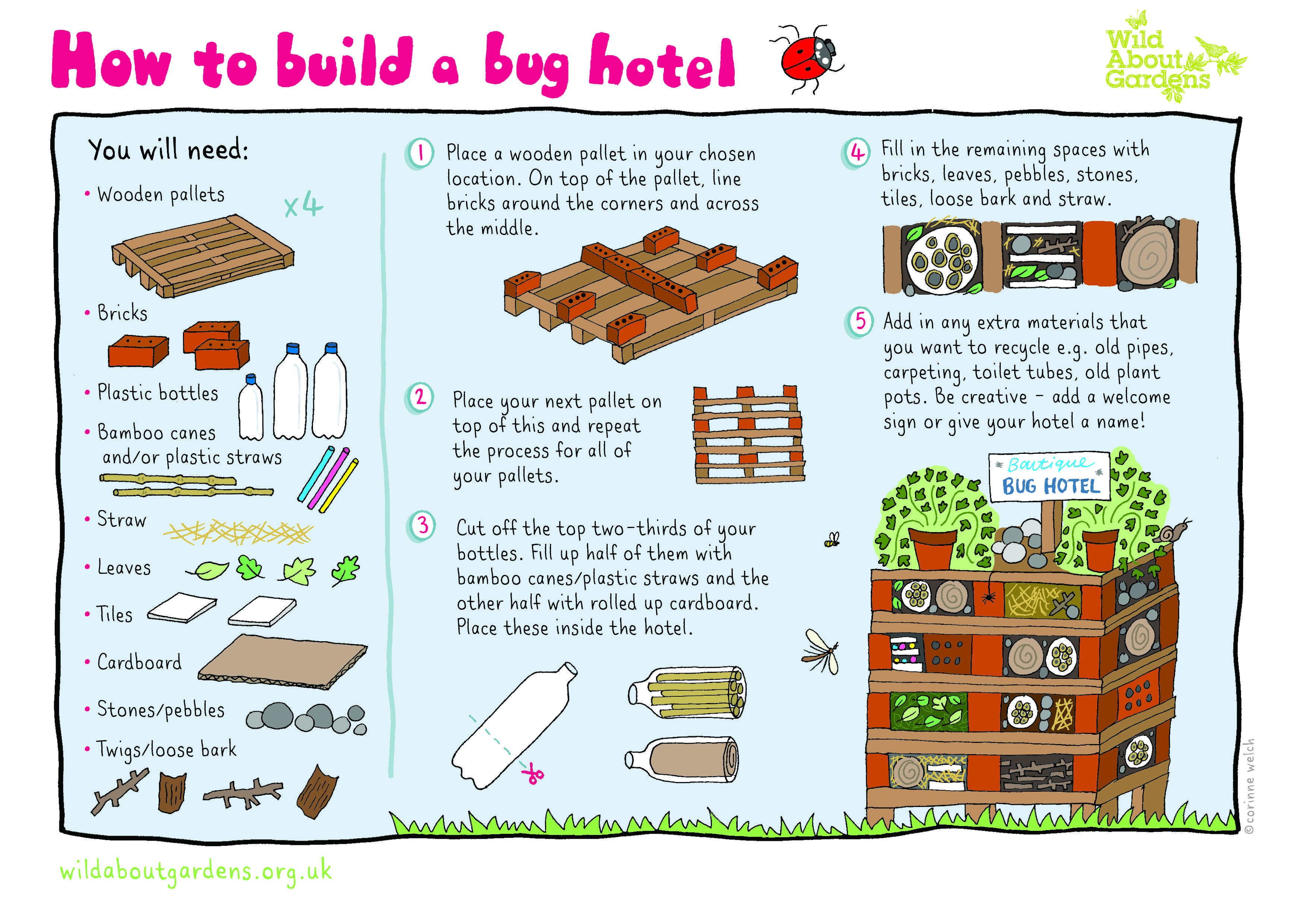 How To Build A Bug Hotel With Step By Step Instructions