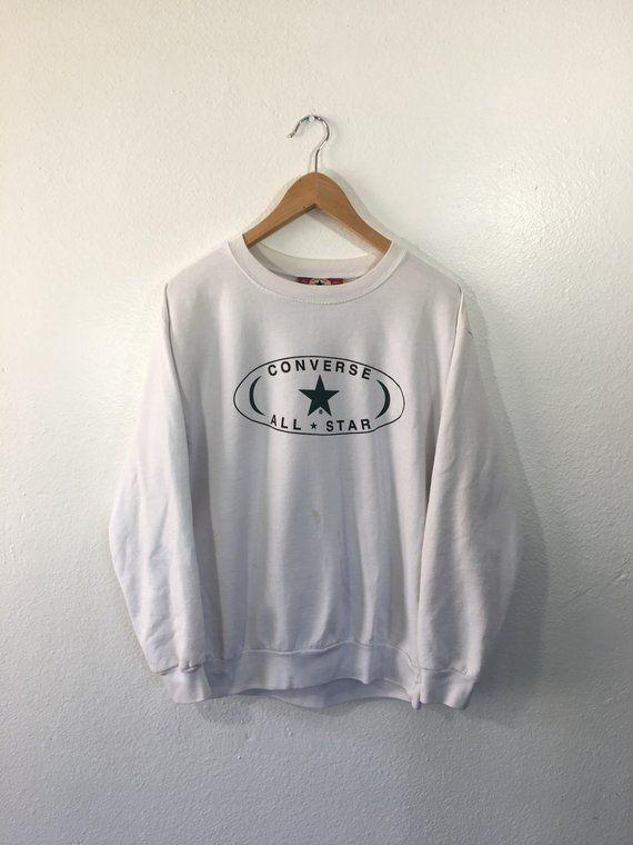 6789aa2cb1ca3 Vintage 90s Converse All-Star Chuck Taylor Crewneck Sweatshirt Made ...