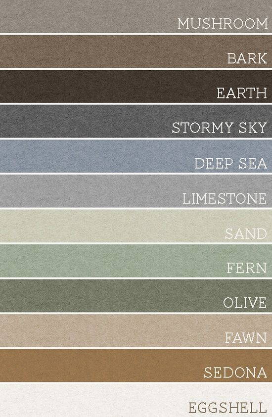 Earth Colors Paint take any set of 3 of these colors and each room would be amazing