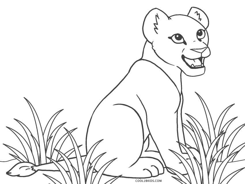 Baby Lion Coloring Sheets