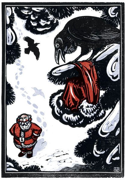 Raven's Christmas, Rick Allen, Kenspeckle Letterpress.