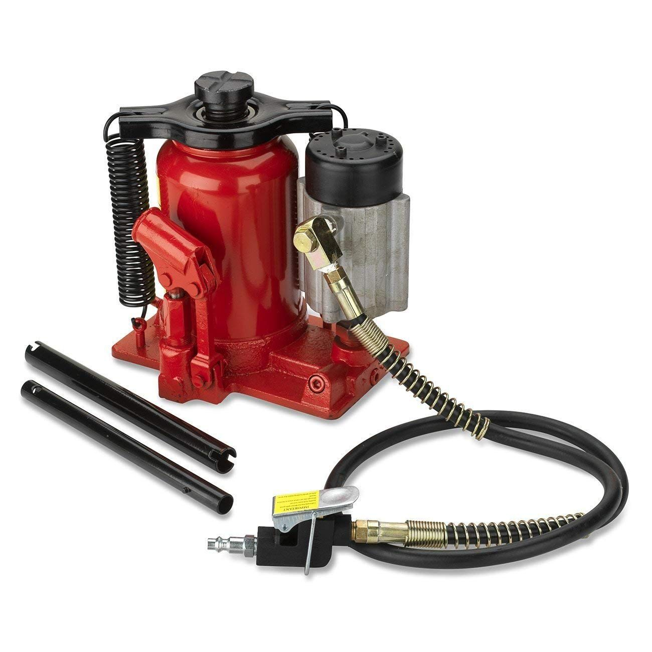 Tooluxe 31010L Low Profile Air Hydraulic Manual Bottle