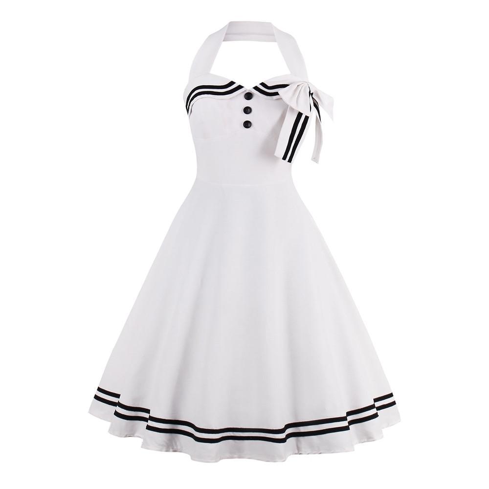 White Plain Dress