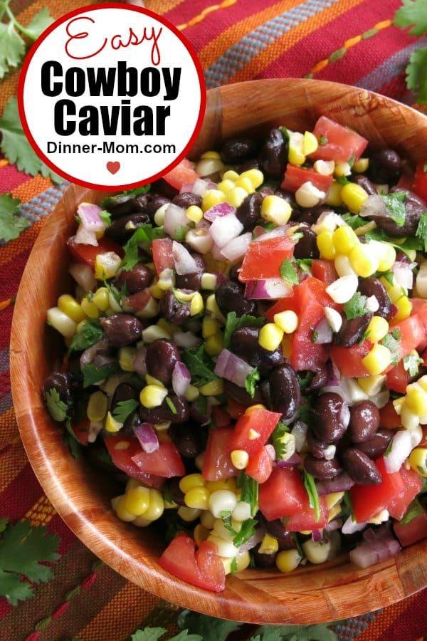 Fresh Corn and Black Bean Salsa #cowboycaviar