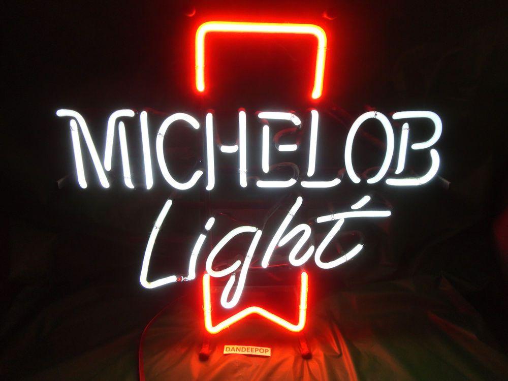 Michelob Light Anheuser-Busch Beer Light Up Neon Home Bar