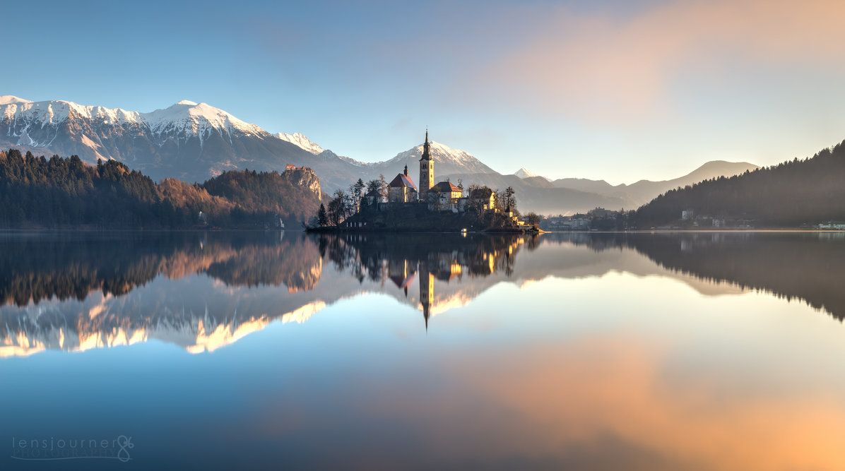 Sunrise on Lake Bled by lensjourner