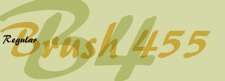 Brush 455 font download