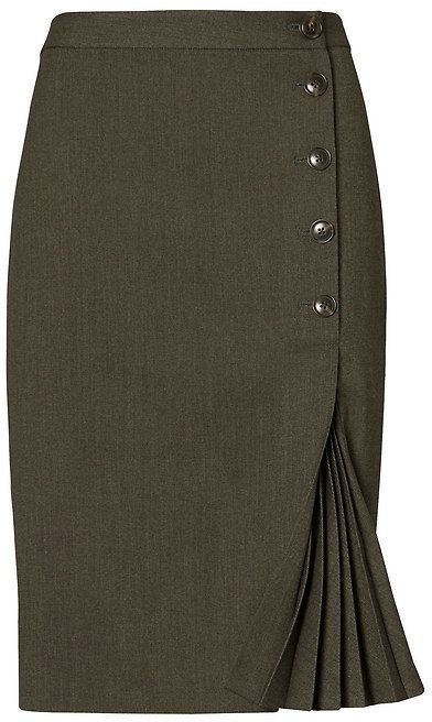 11b49309ae12b6 Side-Button Pencil Skirt | Stylish work attire | Fashion dresses ...