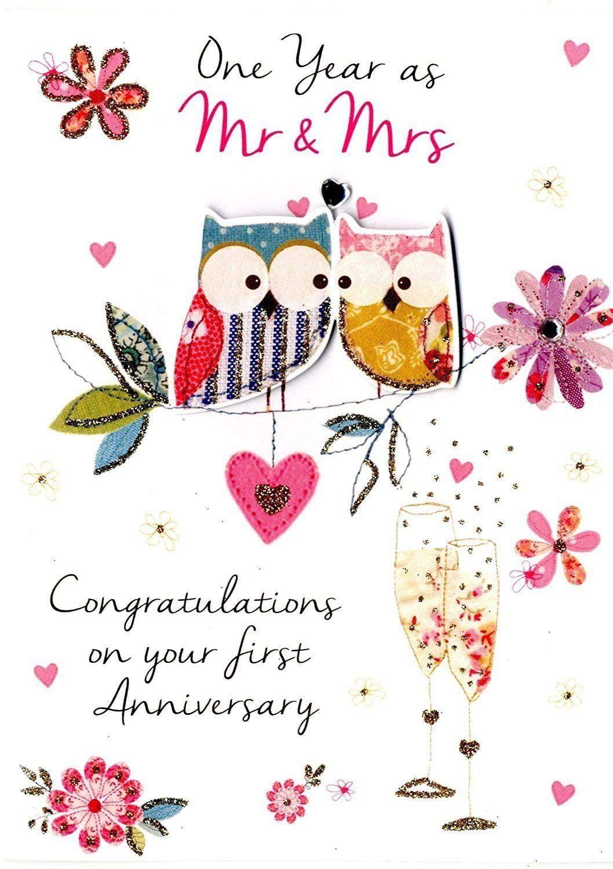 First Wedding Anniversary Card in 2020 Anniversary