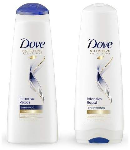 Dove Nutritive Solutions Strengthening Shampoo And Conditioner For Damaged Hair Intensive Repair 12 Fl Oz 2ct Shampoo For Damaged Hair Repair Shampoo Dry Hair Conditioner