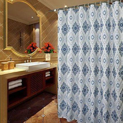 Amazon Com Eforcurtain Heavy Duty Waterproof Shower Curtain