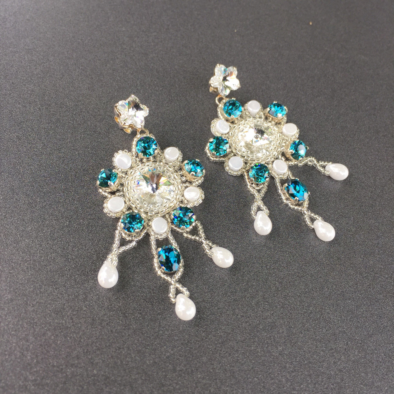 Ohrstecker Schleife Perlen in weiss Hochzeit  Ohrringe Brautschmuck
