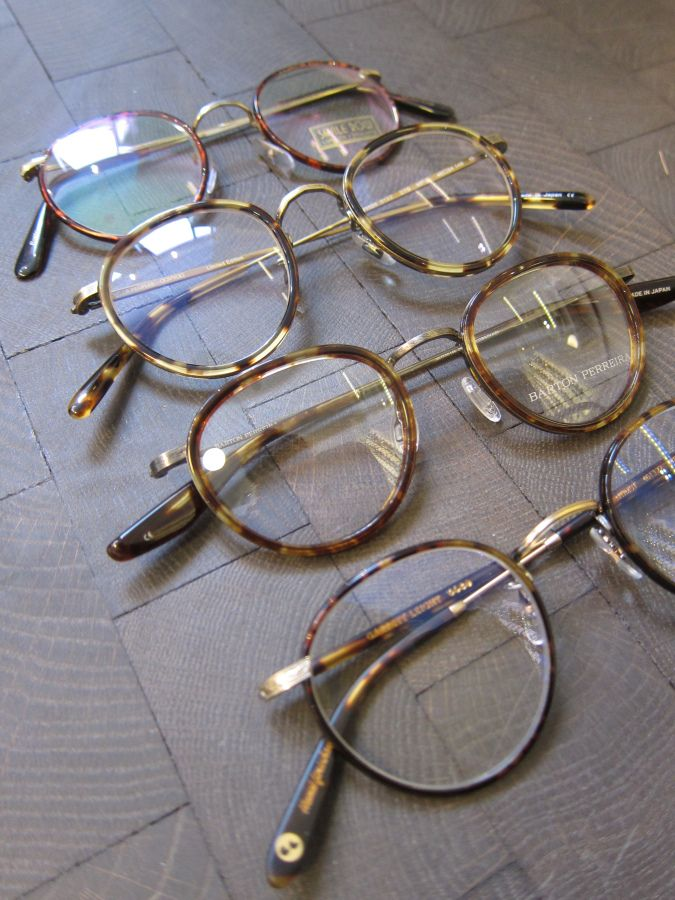 From the top  Algha Savile Row Panto, Oliver Peoples Vintage MP-2, Barton  Perreira Corso (46) and Garrett Leight Winston. 79056cc2ac
