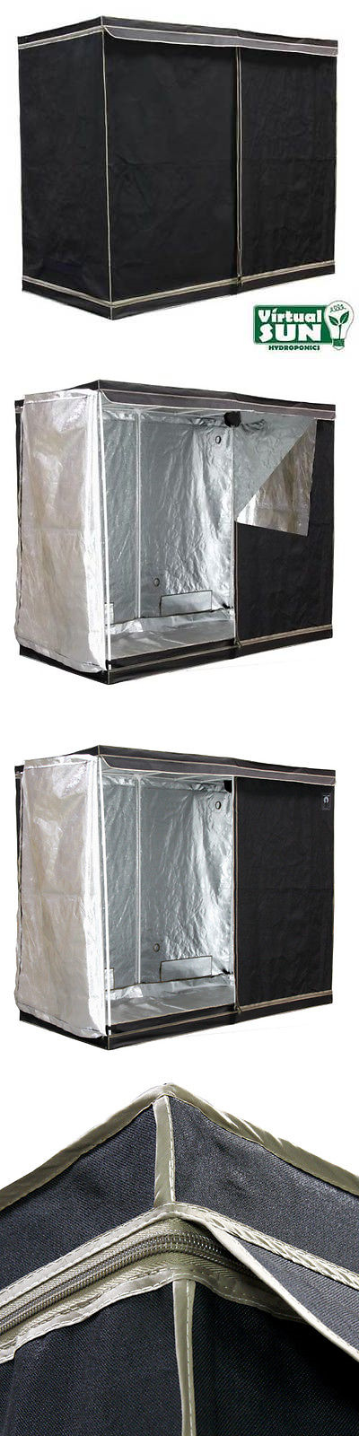 Nutrients pH and Supplements 178992 Virtual Sun Reflective Mylar Hydroponic Plant 96X48x78 Grow Tent Box & Nutrients pH and Supplements 178992: Virtual Sun Reflective Mylar ...