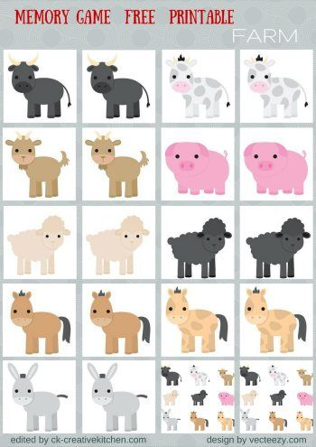 animals memory game free printables preschool baby pinterest kindergarten. Black Bedroom Furniture Sets. Home Design Ideas