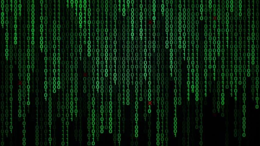 Binary Code Black and Green Stock Footage Video