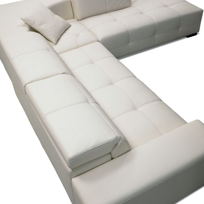 London White Leather Sectional Leather Sectional White Leather Sofas White Sectional Sofa